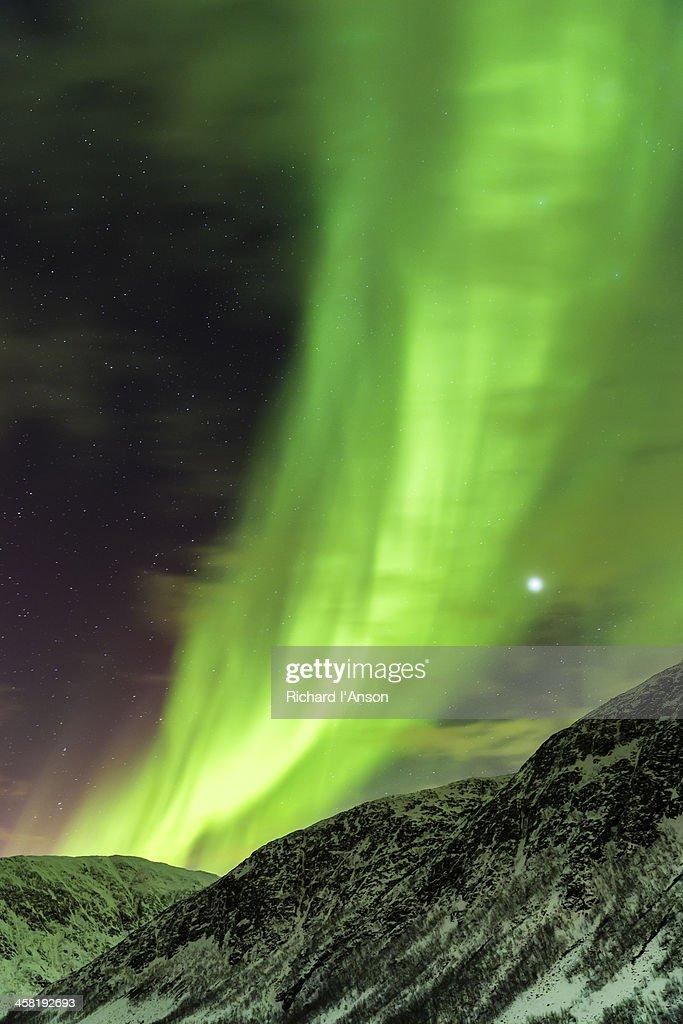 Aurora borealis or northern lights : Stock Photo
