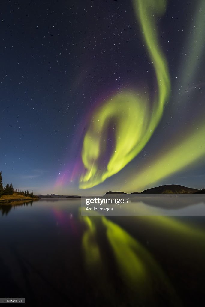 Aurora Borealis or Northern lights : Stock Photo