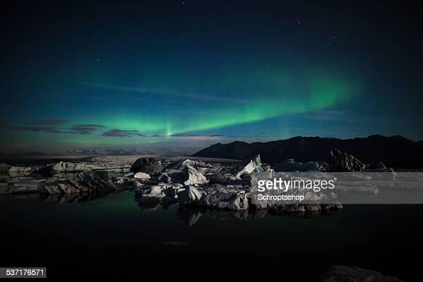 Aurora Borealis over Jokulsarlon