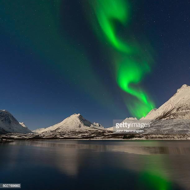Aurora borealis over Nakkevannet