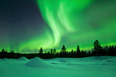 Beautiful northern lights (aurora borealis).
