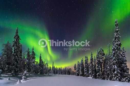 Aurora boreal : Foto de stock