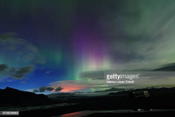 Aurora borealis view from Iceland