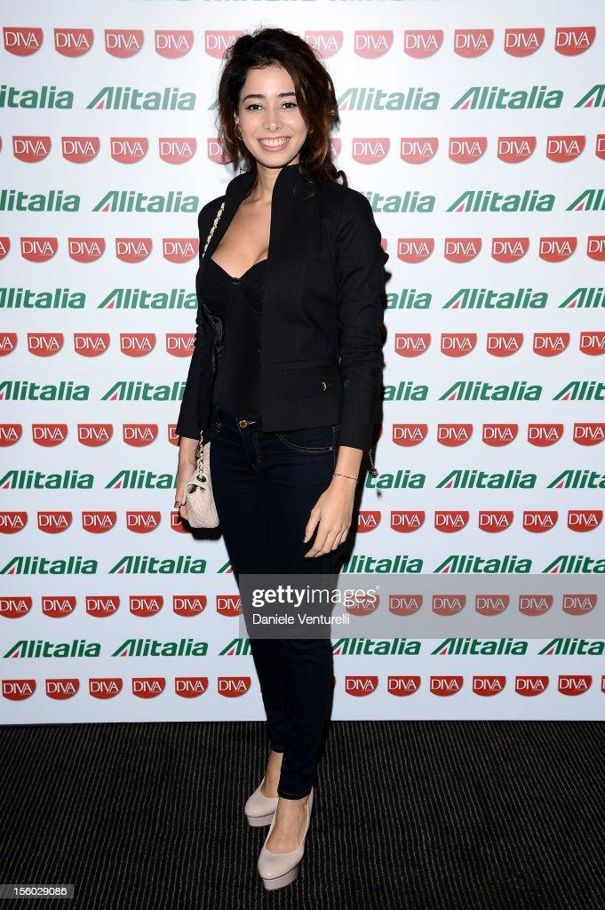 Aurora Cossio attends the Jet Set Party Alitalia at Residenza di Ripetta on November 10, 2012 in Rome, Italy.