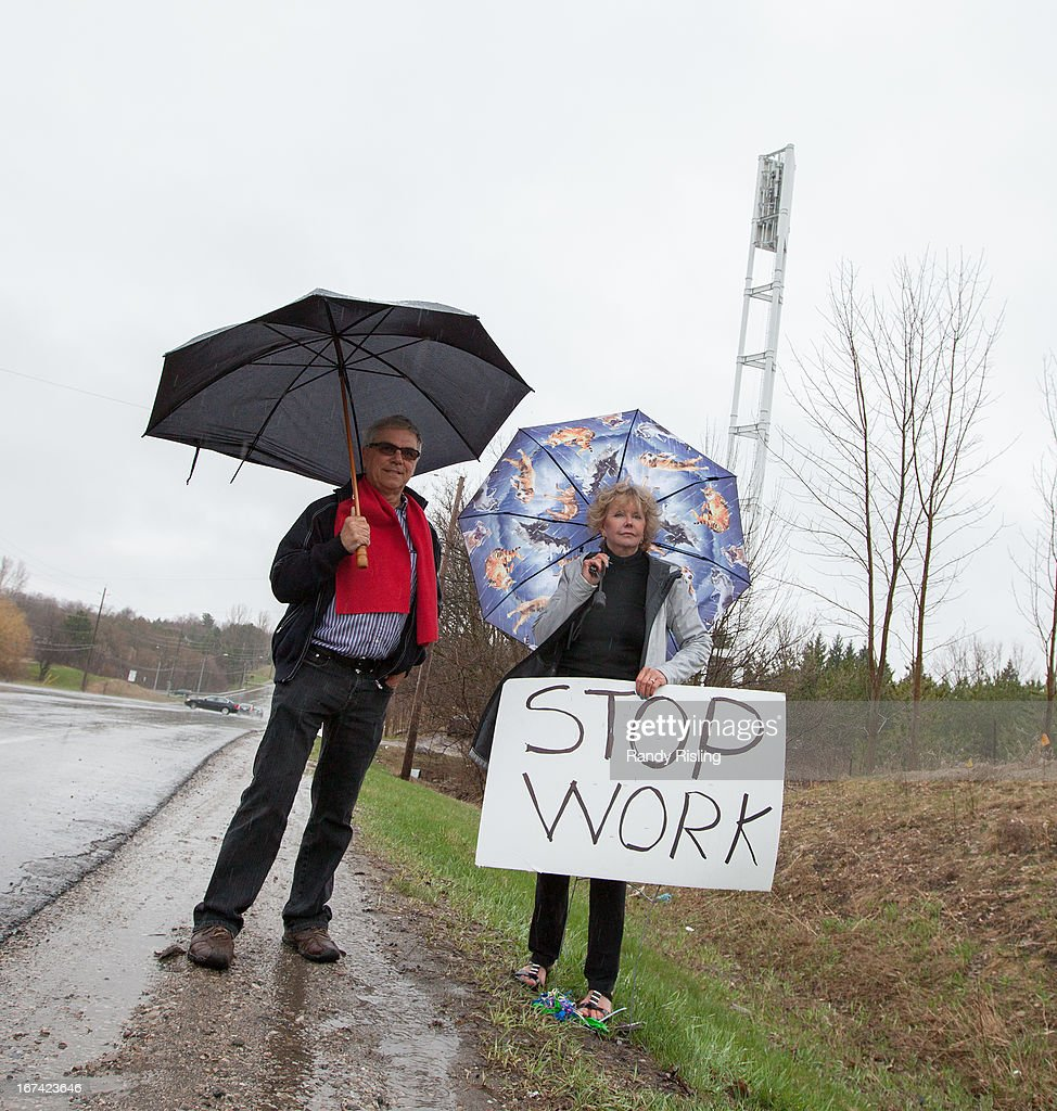 Aurora Councillor, Deputy Mayor John Abel and Anita Robertson are furious about a Bell cell tower being constructed just North of Bathurst St and Bloomington Rd W. They say they weren't consulted and will file an injunction to have construction stopped.