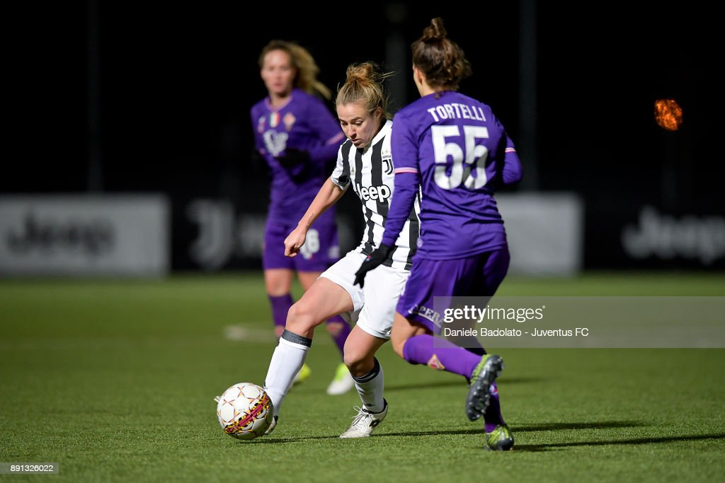 Aurora Galli during the Juventus Women v Fiorentina match at Juventus Center Vinovo on December 8, 2017 in Vinovo, Italy.