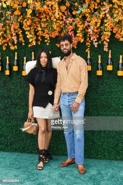 Aurora James and Browne Andrews attends The Tenth Annual Veuve Clicquot Polo Classic Arrivals at Liberty State Park on June 3 2017 in Jersey City New...
