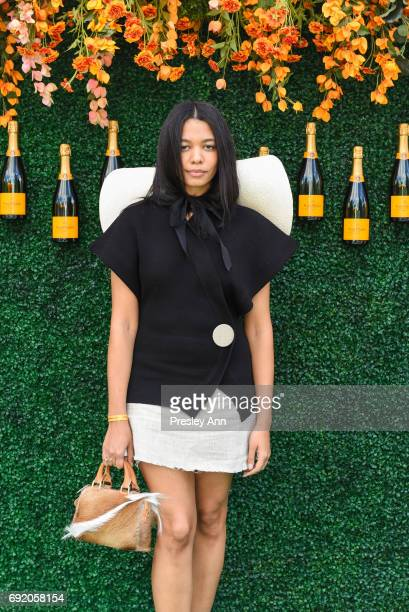 Aurora James attends The Tenth Annual Veuve Clicquot Polo Classic Arrivals at Liberty State Park on June 3 2017 in Jersey City New Jersey