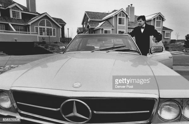 Aurora Mayor Dennis Champine with his four year old Mercedes at the Meadow Creek conominiums where he lives Credit The Denver Post