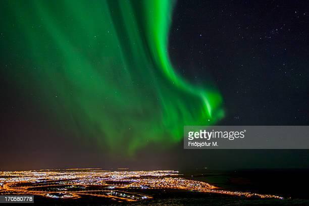 Aurora over Grafarvogur