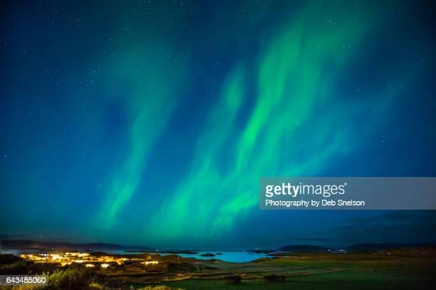 Aurora Over Stykkisholmur Iceland