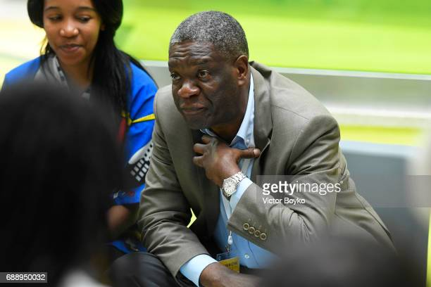 Aurora Prize Finalist Dr Denis Mukwege during the Galvanizing the World Break Out Sessions at the Aurora Dialogues a series of discussions between...