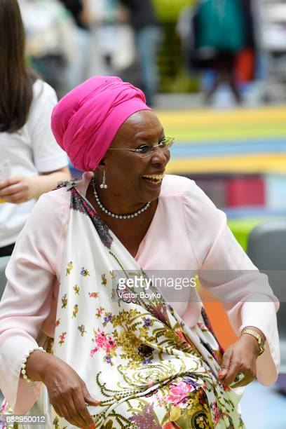 Aurora Prize Laureate and Founder of Maison Shalom Marguerite Barankitse during the Galvanizing the World Break Out Sessions at the Aurora Dialogues...