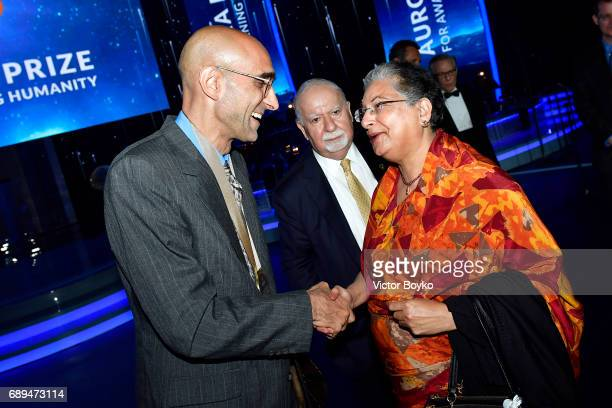 Aurora Prize Laureate Dr Tom Catena and Former UN Special Representative of the Secretary General on Human Rights Defenders and Aurora Prize...