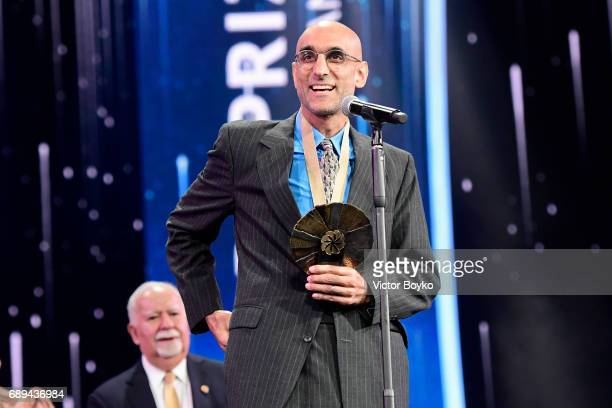 Aurora Prize Laureate Dr Tom Catena during the 2017 Aurora Prize Ceremony at the Karen Demirtchian Sport/Concert Complex on May 28 2017 in Yerevan...