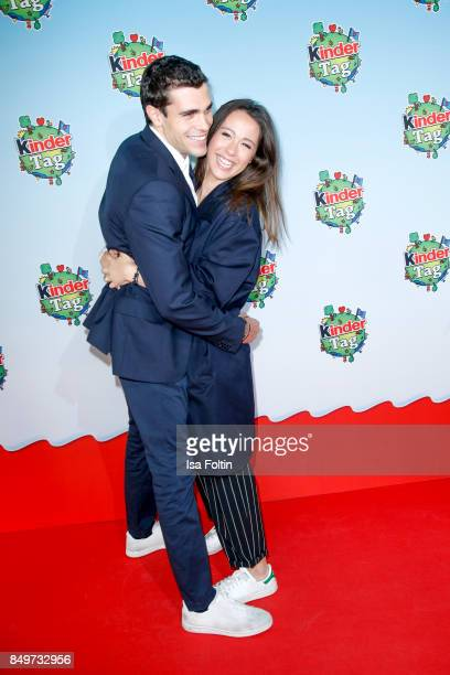 Aurora Ramazzotti and her boyfriend Goffredo Cerza during the KinderTag to celebrate children's day on September 19 2017 in Berlin Germany