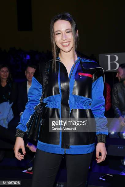 Aurora Ramazzotti attends the Versace show during Milan Fashion Week Fall/Winter 2017/18 on February 24 2017 in Milan Italy