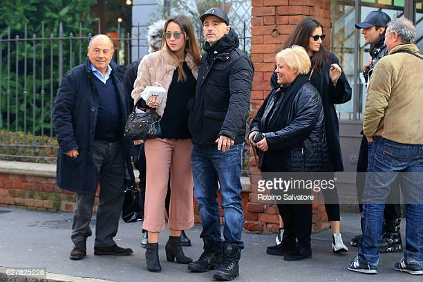 Aurora Ramazzotti is seen with father's family for her birth day on December 5 2016 in Milan Italy