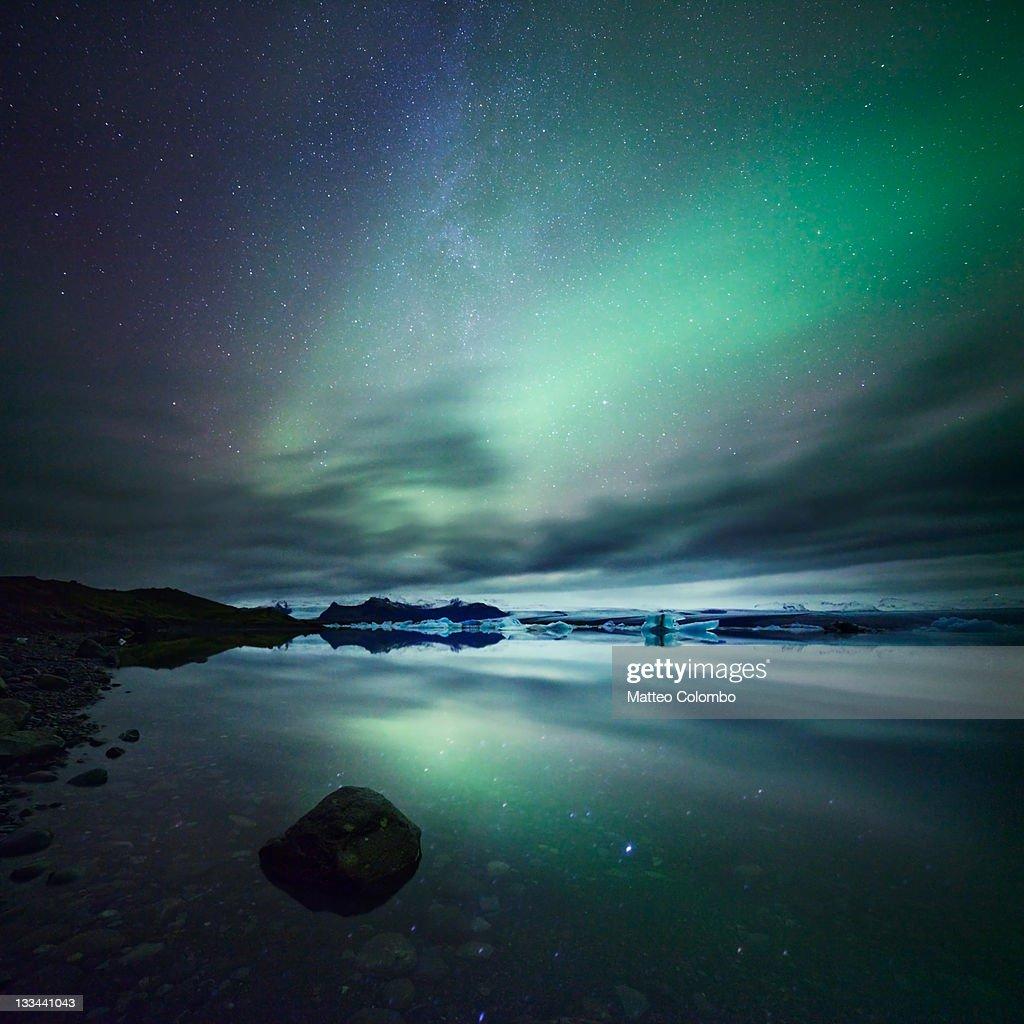 Aurora reflection : Stock Photo
