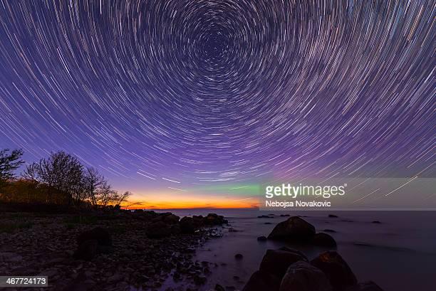 Aurora Star Trails