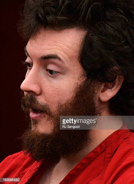 Aurora theater shooting suspect James Holmes in the courtroom during his arraignment March 12 2013 District Court Judge William Sylvester entered a...