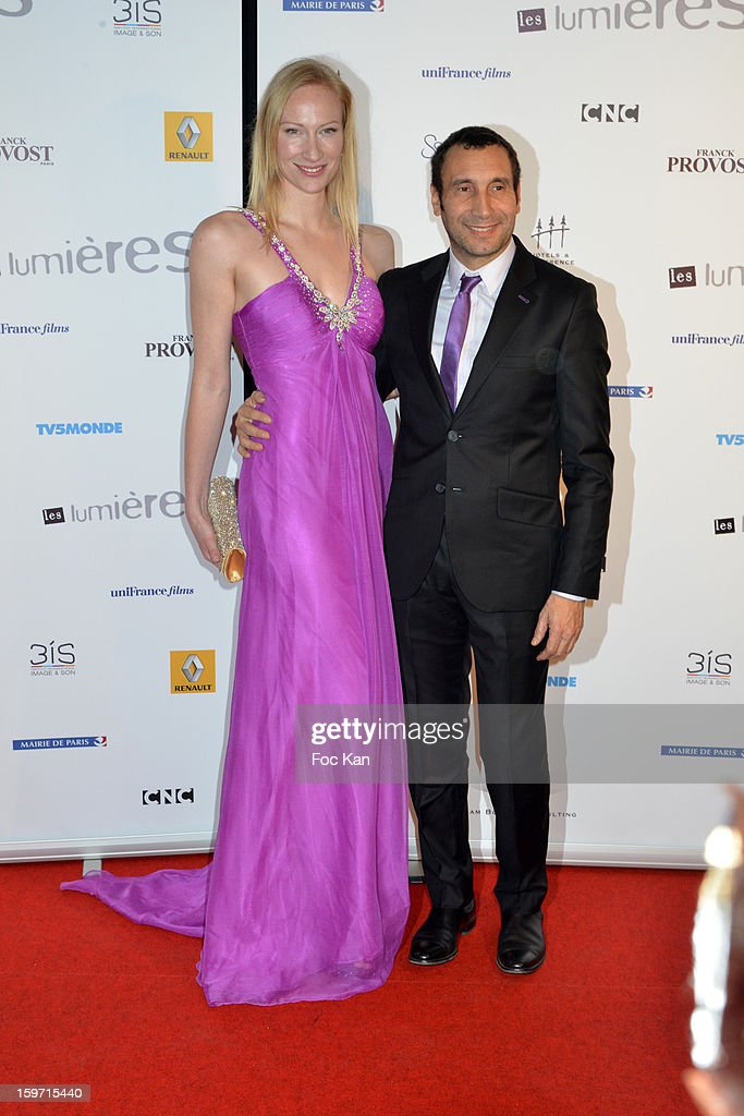 Aurore Tome and Zinedine Soualem attend 'Les Lumieres 2013' Cinema Awards 18th Ceremony at La Gaite Lyrique on January 18, 2013 in Paris, France.