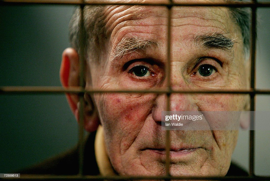 Auschwitz survivor Mr. Leon Greenman, prison number 98288, is seen December 9, 2004 at the Jewish Museum in London, England. Mr. Greenman O.B.E age 93 and a British citizen, spent three years of his life in six different concentration camps during World War II and since 1946 he has tirelessly recounted his life through his personal exhibition at the museum where he conducts educational events to all age groups. January 2005 will be the 60th anniversary of the liberation of the extermination and concentration camps, when survivors and victims who suffered as a result of the Holocaust will commemorated across the world.