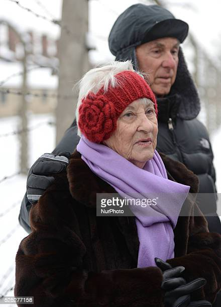 Auschwitz survivor Rose Schindler from USA and her husband Max who was in other camps they both return to Auschwitz for the 70th Anniversary of the...