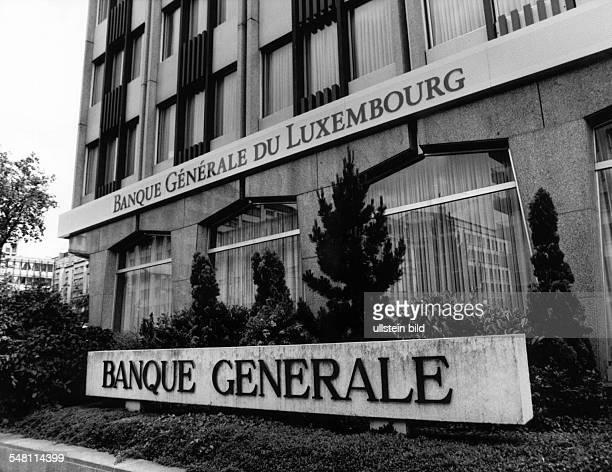Aussenansicht der 'Banque Generale du Luxembourg' einer der wichtigsten Banken des Landes 1994