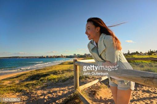 Aussie Asian girl at the beach