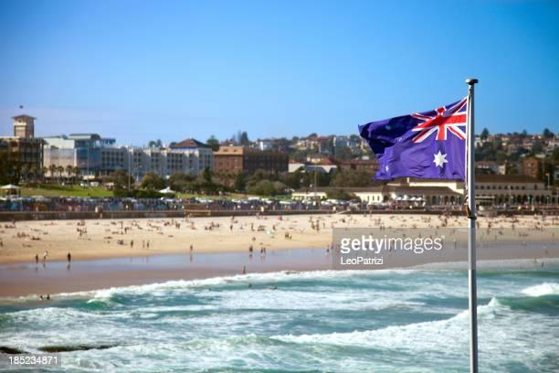 Austalian ボンダイ・ビーチはシドニーの旗