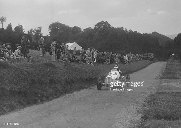 Austin 7 of LP Driscoll competing in the MAC Shelsley Walsh Speed Hill Climb Worcestershire 1935 Artist Bill BrunellAustin 7 Racing singleseater 747S...