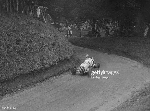 Austin 7 of LP Driscoll competing in the MAC Shelsley Walsh Speed Hill Climb Worcestershire 1935 Artist Bill BrunellAustin 747S cc Event Entry No 2...
