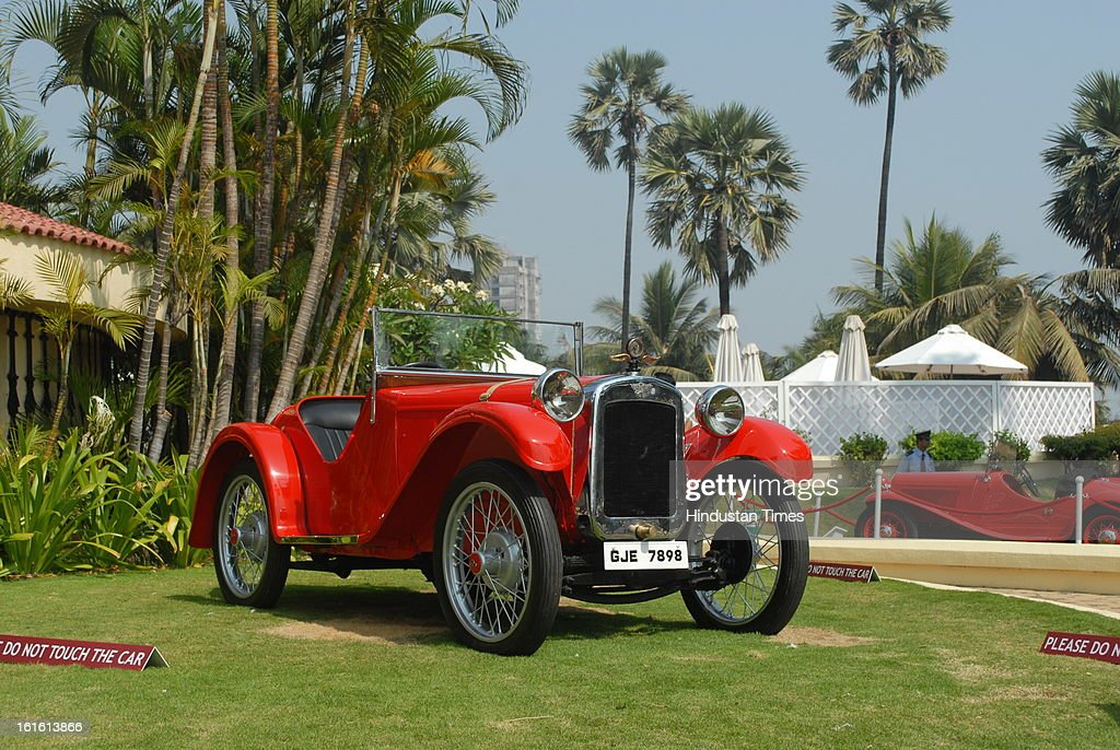 Austin 7 Ulster Vintage car taking part in Third Cartier Travel With Style Concours D'Elegance Vintage car show at 2013 Taj Lands End on February 10, 2013 in Mumbai, India.