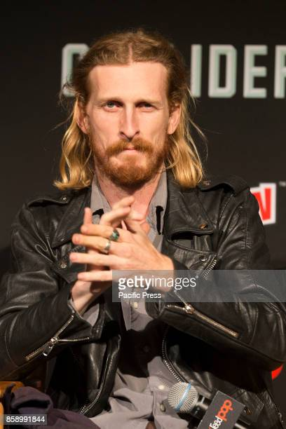 Austin Amelio attends The Walking Dead panel at The Theater at Madison Square Garden during Comic Con 2017