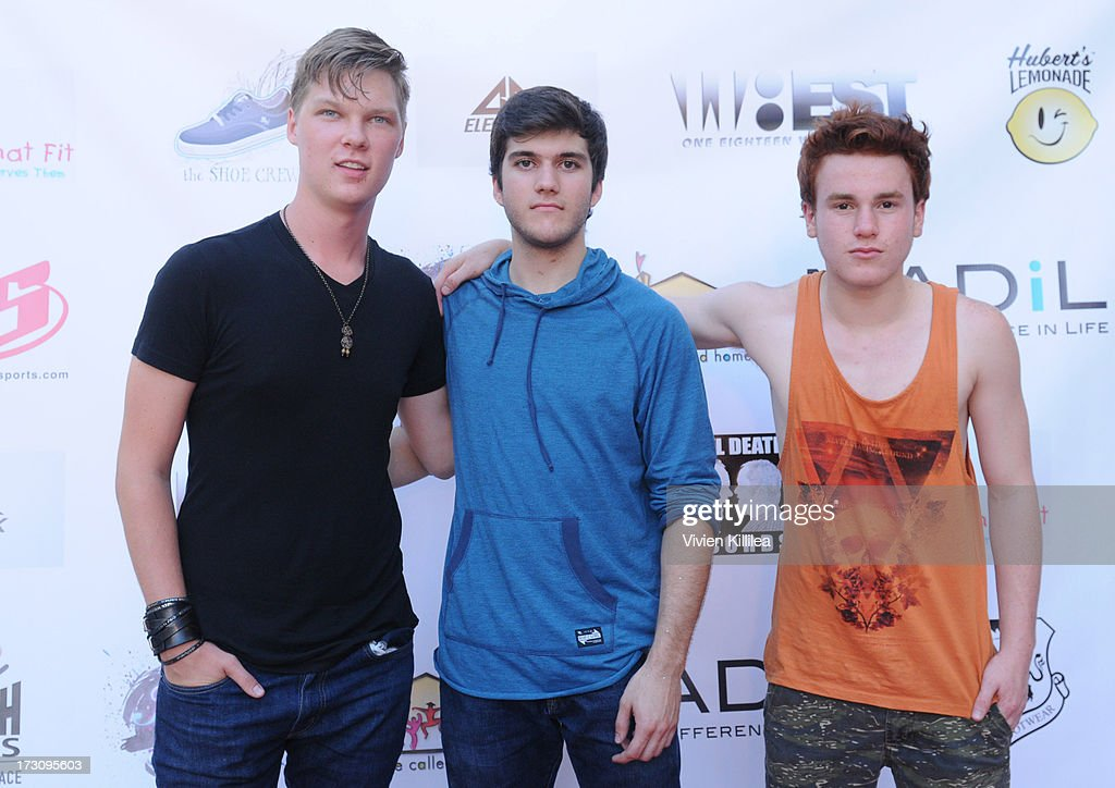 Austin Anderson, Robbie Bruce and Justin Tinucci of the band Breaking Tempo attend Shoe Crews Summer Concert on July 6, 2013 in Simi Valley, California.