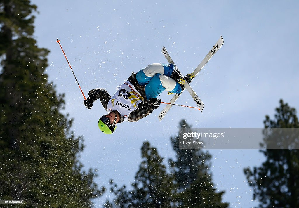 Austin Bourret competes in the Men's Moguls at the U.S. Freestyle Moguls National Championship at Heavenly Resort on March 29, 2013 in South Lake Tahoe, California.