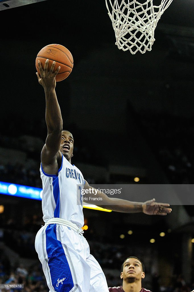 Austin Chatman #1 of the Creighton Bluejays lays the ball in during their game against the Saint Joseph's Hawks at CenturyLink Center on December 1, 2012 in Omaha, Nebraska. Creighton defeated Saint Joseph's 80-51.
