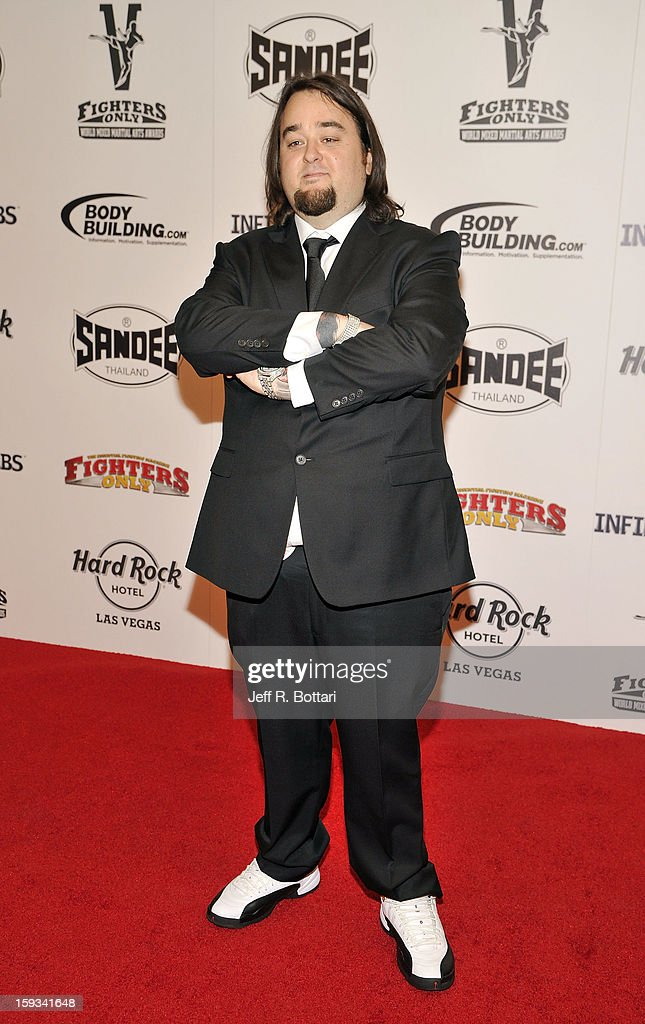 Austin ÒChumleeÓ Russell from History's ÒPawn StarsÓ television series arrives at the Fighters Only World Mixed Martial Arts Awards at the Hard Rock Hotel & Casino on January 11, 2013 in Las Vegas, Nevada.