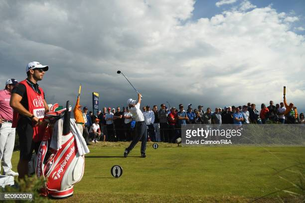 Austin Connelly of Canada on the 11th tee during the third round of the 146th Open Championship at Royal Birkdale on July 22 2017 in Southport England