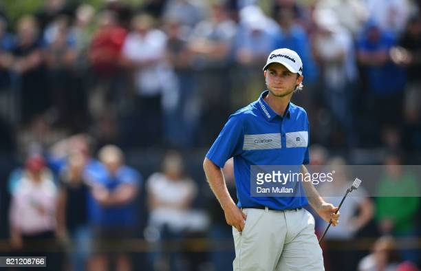Austin Connelly of Canada on the 4th green during the final round of the 146th Open Championship at Royal Birkdale on July 23 2017 in Southport...