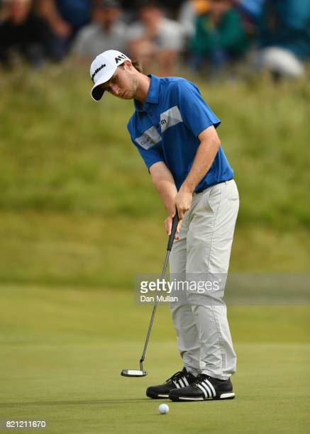 Austin Connelly of Canada putts during the final round of the 146th Open Championship at Royal Birkdale on July 23 2017 in Southport England
