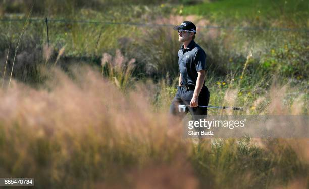 Austin Cook walks along the sixth hole during the final round of The RSM Classic at the Sea Island Resort Seaside Course on November 19 2017 in Sea...