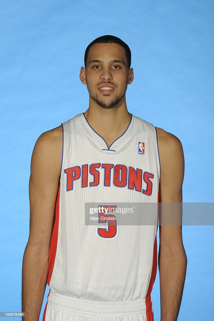 <a gi-track='captionPersonalityLinkClicked' href=/galleries/search?phrase=Austin+Daye&family=editorial&specificpeople=4682416 ng-click='$event.stopPropagation()'>Austin Daye</a> #5 of the Detroit Pistons poses during media day on October 1, 2012 at The Palace of Auburn Hills in Auburn Hills, Michigan.