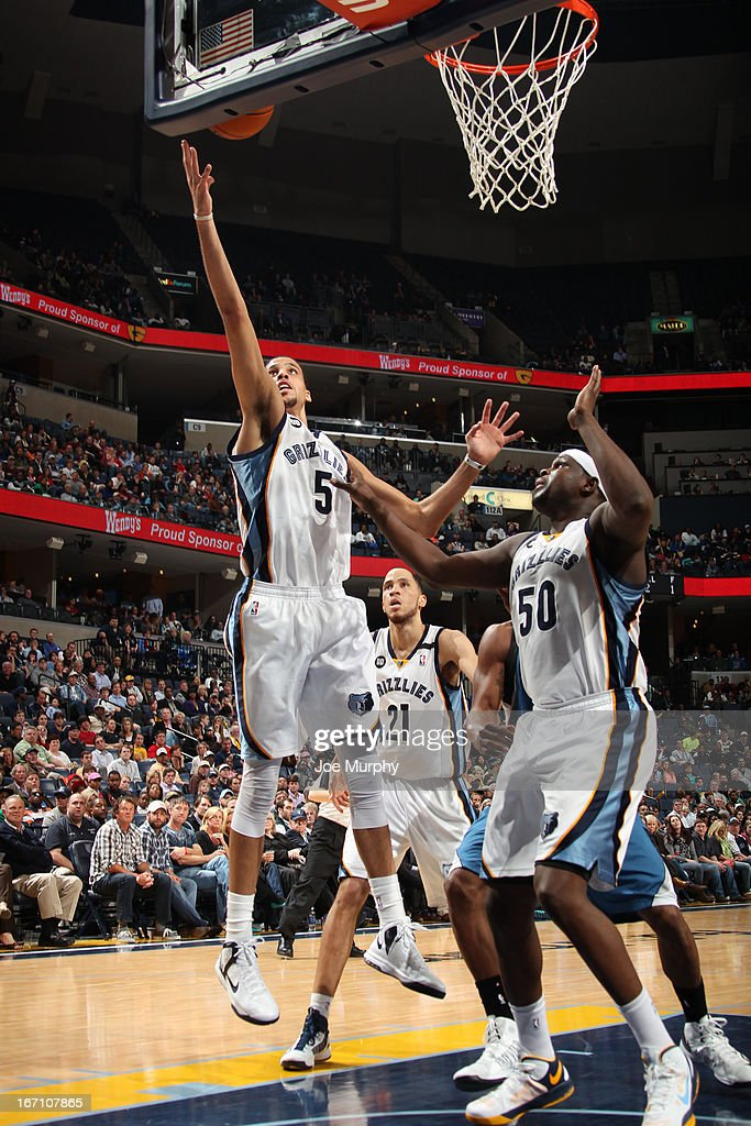 <a gi-track='captionPersonalityLinkClicked' href=/galleries/search?phrase=Austin+Daye&family=editorial&specificpeople=4682416 ng-click='$event.stopPropagation()'>Austin Daye</a> #5 of the Memphis Grizzlies reaches for a rebound against the Minnesota Timberwolves on March 18, 2013 at FedExForum in Memphis, Tennessee.