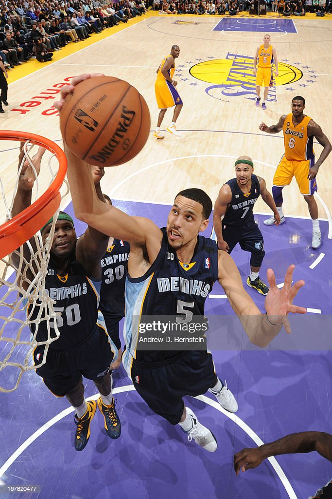 <a gi-track='captionPersonalityLinkClicked' href=/galleries/search?phrase=Austin+Daye&family=editorial&specificpeople=4682416 ng-click='$event.stopPropagation()'>Austin Daye</a> #5 of the Memphis Grizzlies rebounds against the Los Angeles Lakers at Staples Center on April 5, 2013 in Los Angeles, California.