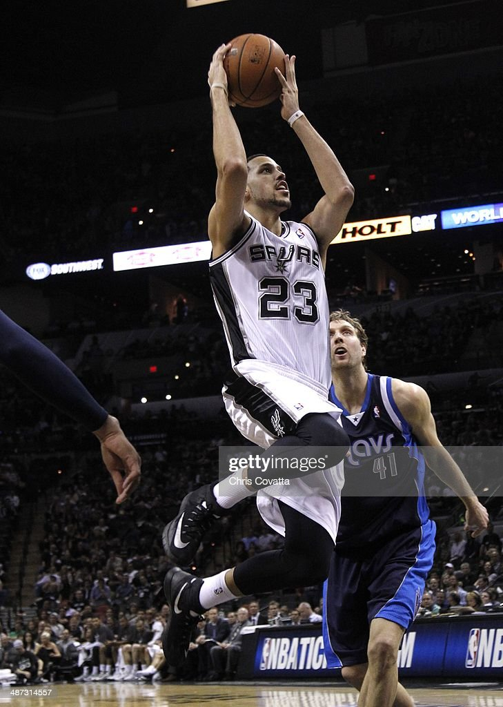 <a gi-track='captionPersonalityLinkClicked' href=/galleries/search?phrase=Austin+Daye&family=editorial&specificpeople=4682416 ng-click='$event.stopPropagation()'>Austin Daye</a> #23 of the San Antonio Spurs shoots against the Dallas Mavericks in Game Two of the Western Conference Quarterfinals during the 2014 NBA Playoffs at the AT&T Center on April 23, 2014 in San Antonio, Texas.