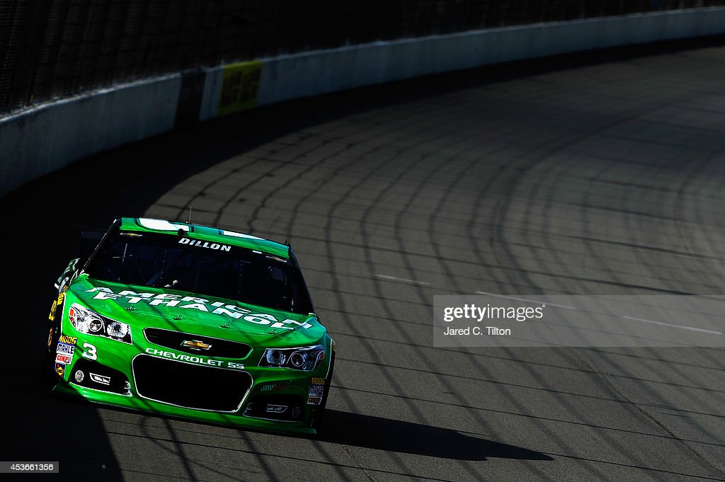 Austin Dillon, driver of the #3 American Ethanol Chevrolet, qualifies for the NASCAR Sprint Cup Series Pure Michigan 400 at Michigan International Speedway on August 15, 2014 in Brooklyn, Michigan.