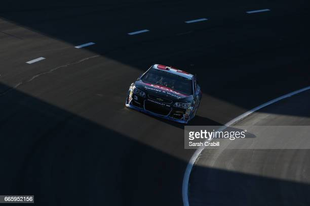 Austin Dillon driver of the DOW Energy Water Chevrolet drives during qualifying for the Monster Energy NASCAR Cup Series O'Reilly Auto Parts 500 at...
