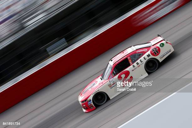 Austin Dillon driver of the Rheem Chevrolet qualifies for the NASCAR XFINITY Series Sports Clips Haircuts VFW 200 at Darlington Raceway on September...